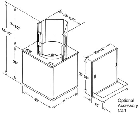 LS22 Cabinet Dimensions